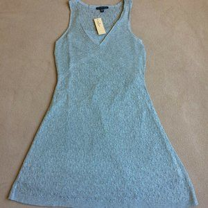 American Eagle Pointelle Tank Sweater Dress - Gray